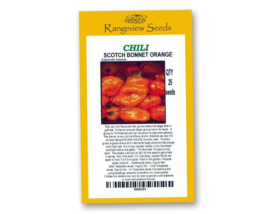 Chili Scotch Bonnet Orange - Rangeview Seeds