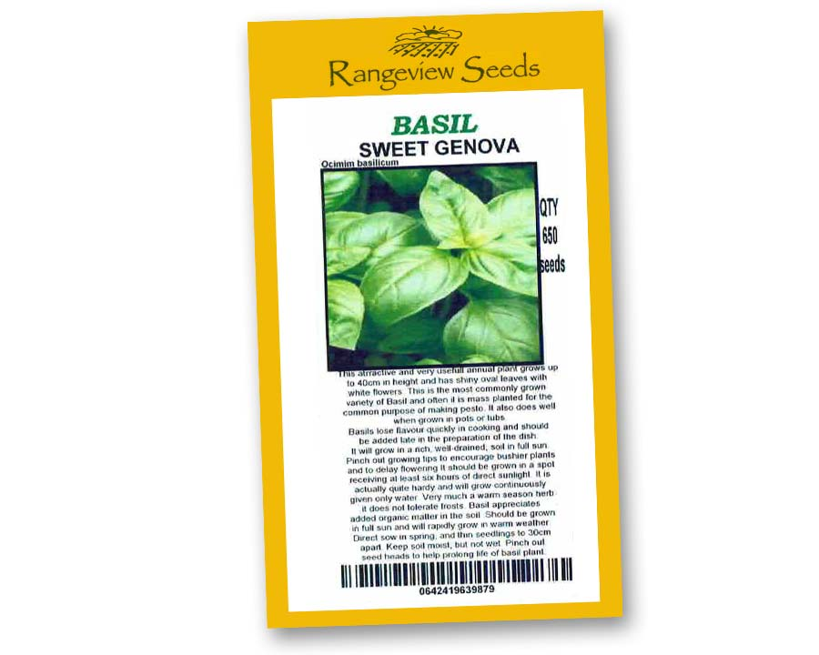 Basil Sweet Genova - Rangeview Seeds