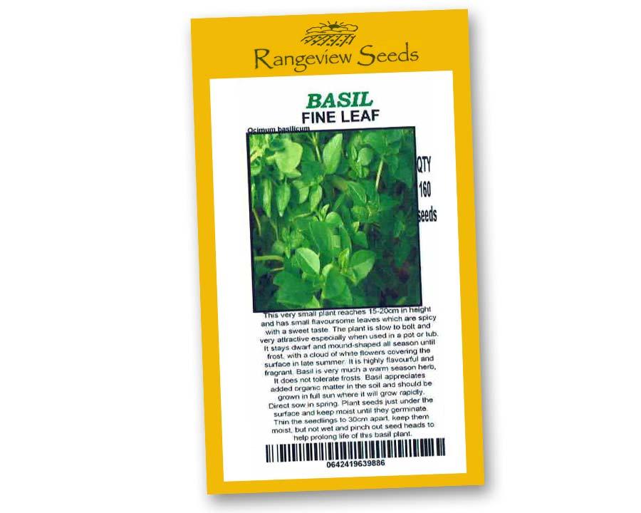 Basil Fine Leaf - Rangeview seeds