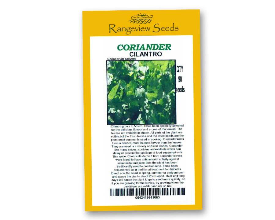 Coriander Cilantro - Rangeview Seeds