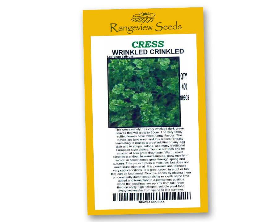 Cress Wrinkled Crinkled - rangeview Seeds
