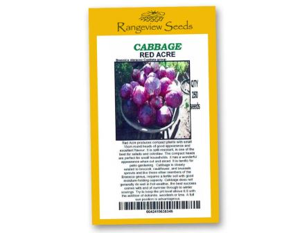 Cabbage Red Acre - Rangeview Seeds