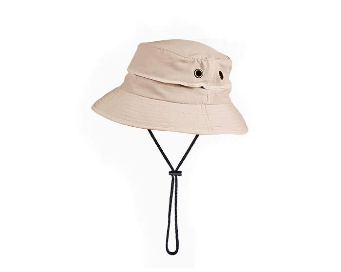 Bucket Hat comes in three colours - this is Straw