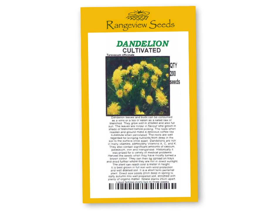 Dandelion Cultivated - Rangeview Seeds