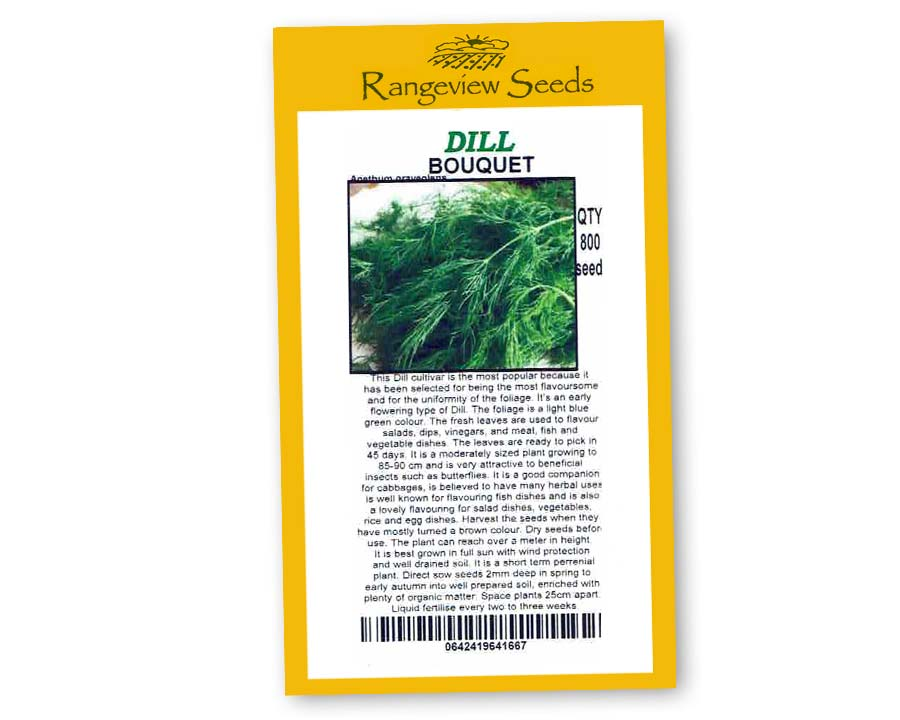 Dill Bouquet Organic - Rangeview Seeds