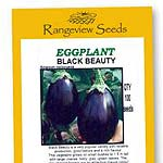 Eggplant Black Beauty Organic - Rangeview Seeds