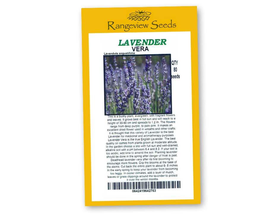 Lavender (Lavandula angustifolia) Vera - Rangeview Seeds