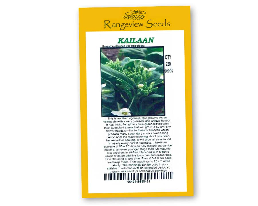 Kailaan Chinese Broccoli - Rangeview Seeds
