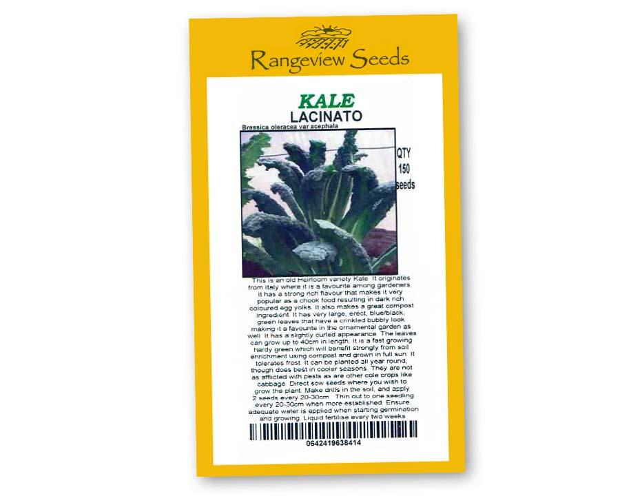 Kale Lacinato - Rangeview Seeds