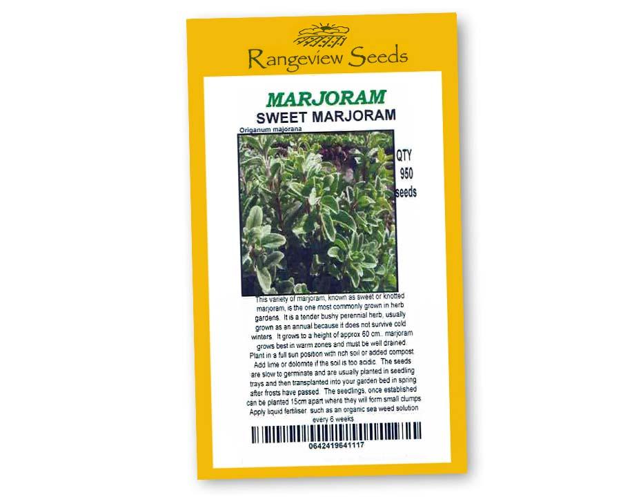 Marjoram Sweet Marjoram - Rangeview Seeds