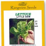 Lettuce Little Gem Mini Cos - Rangeview Seeds