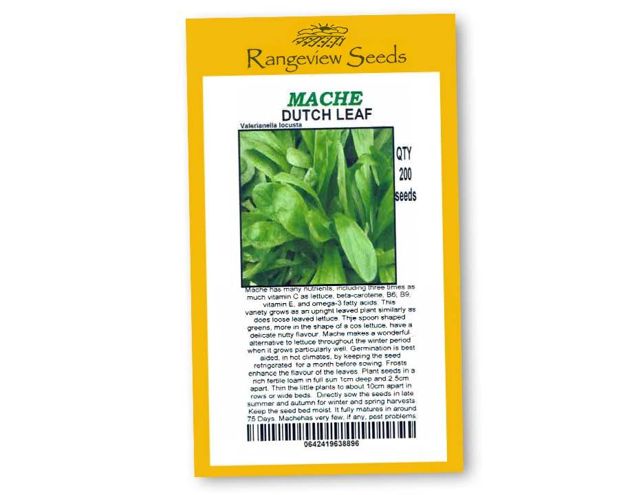 Mache Dutch Leaf - Rangeview Seeds