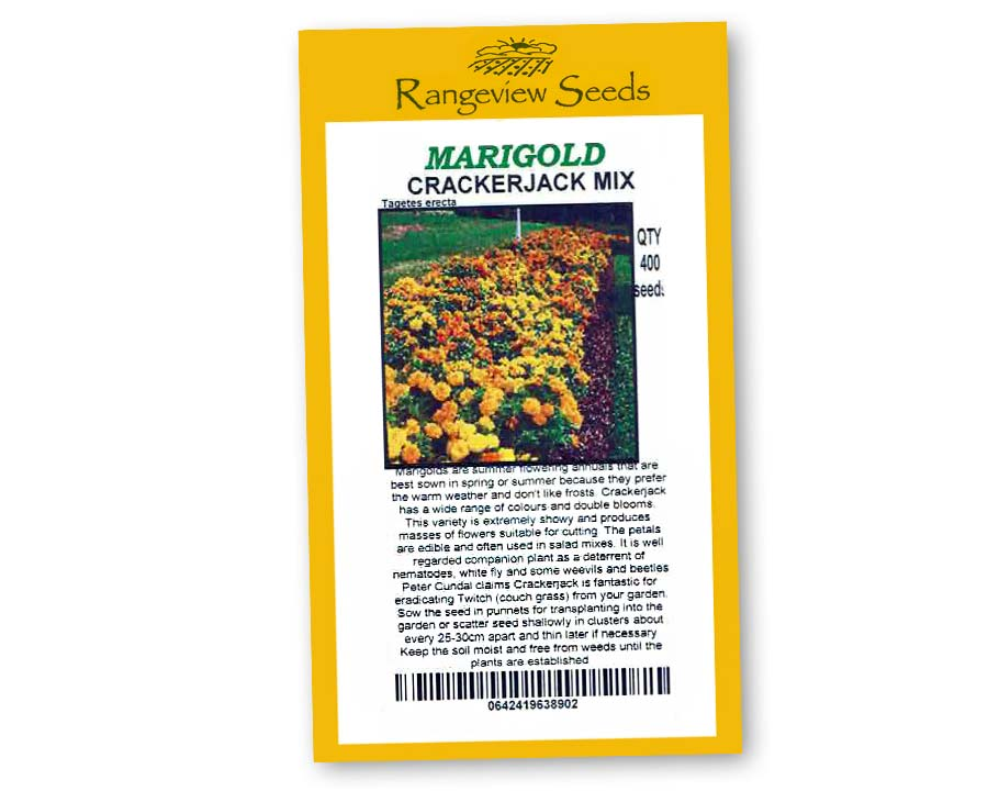 Marigold Crackerjack Mix - Rangeview Seeds