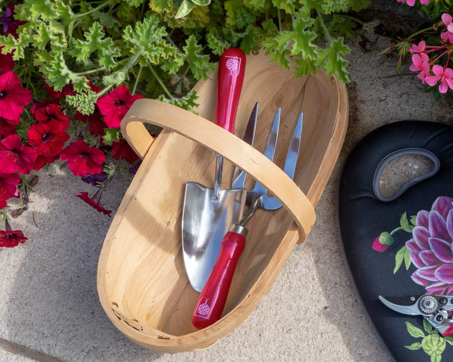 Trowel and Fork Gift Box set - one of the RHS Floral range of designs, this is British Bloom