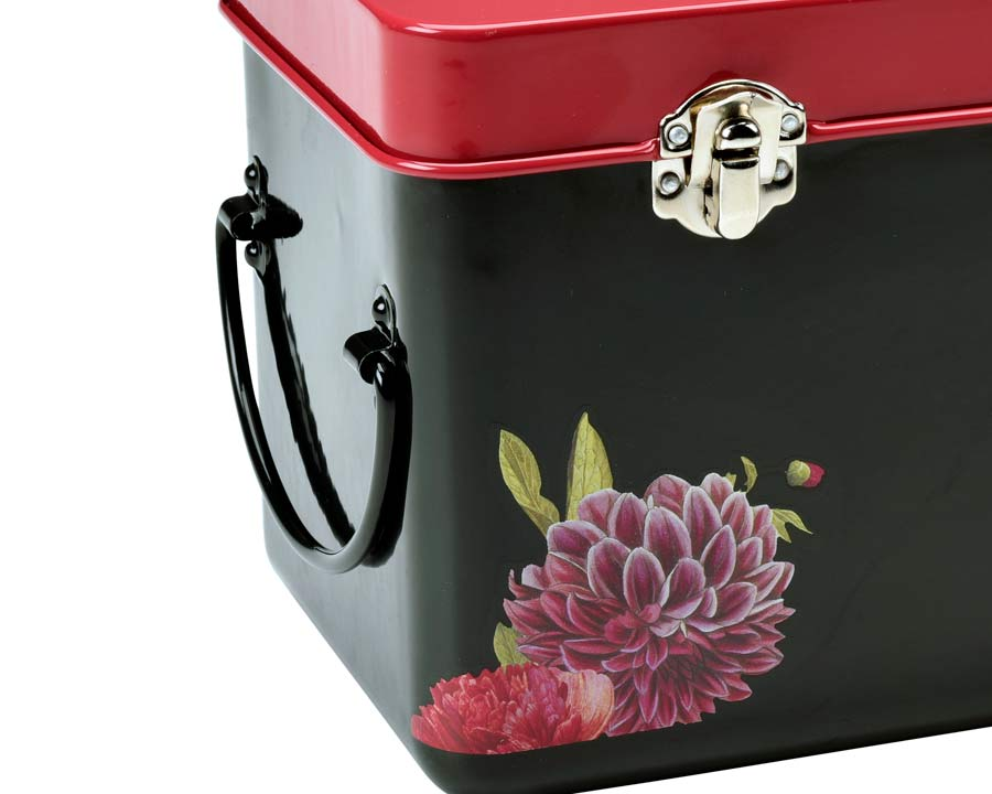 Seed Tin Storage from Burgon and Ball - metal handles and catches