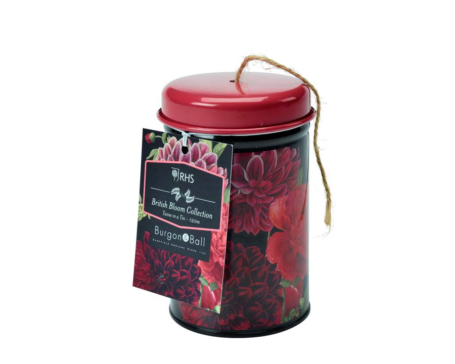 RHS Floral series of garden tools and garden accessories - Twine in a Tin British Bloom design