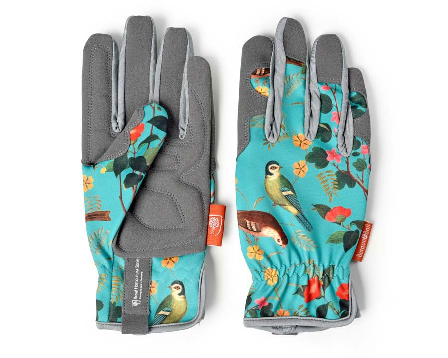 RHS Floral Collection Gloves in Flora and Fauna design