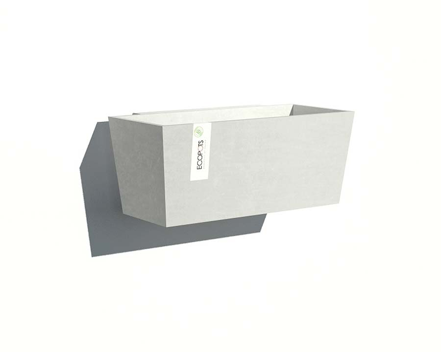 White Grey - Manhattan 35 - Wall-Mounted - EcoPots