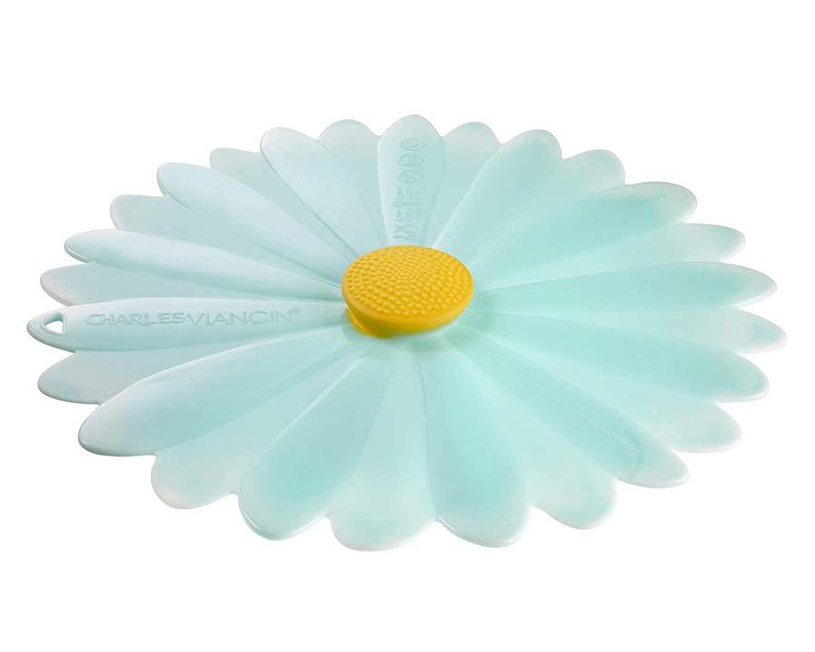 Large Daisy lid 28cm in Aqua