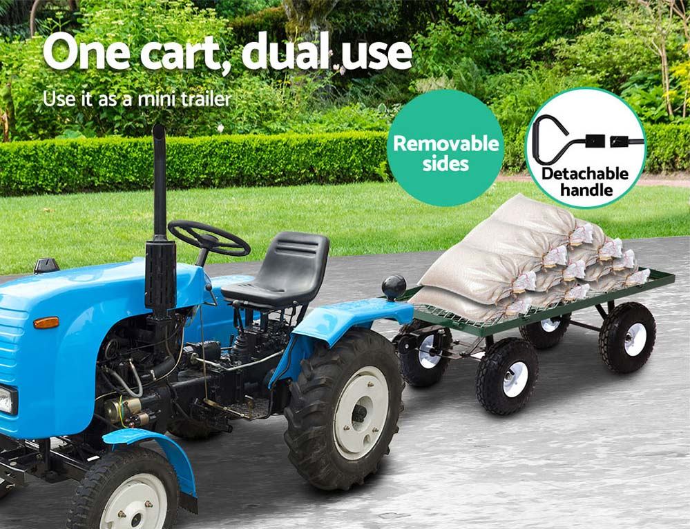 Mesh garden cart