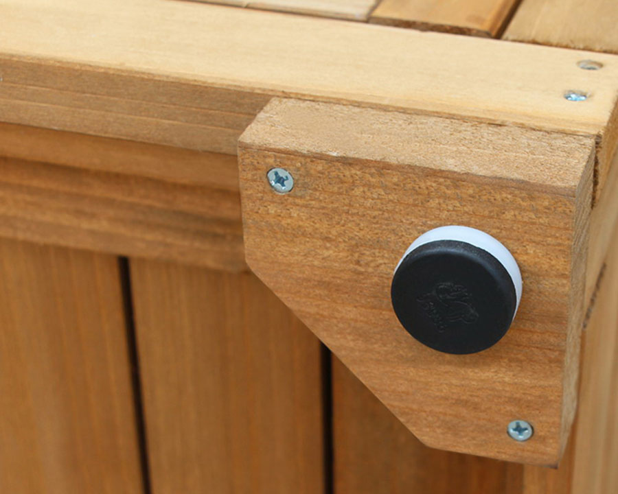 Wooden Garden Cabinet - feet