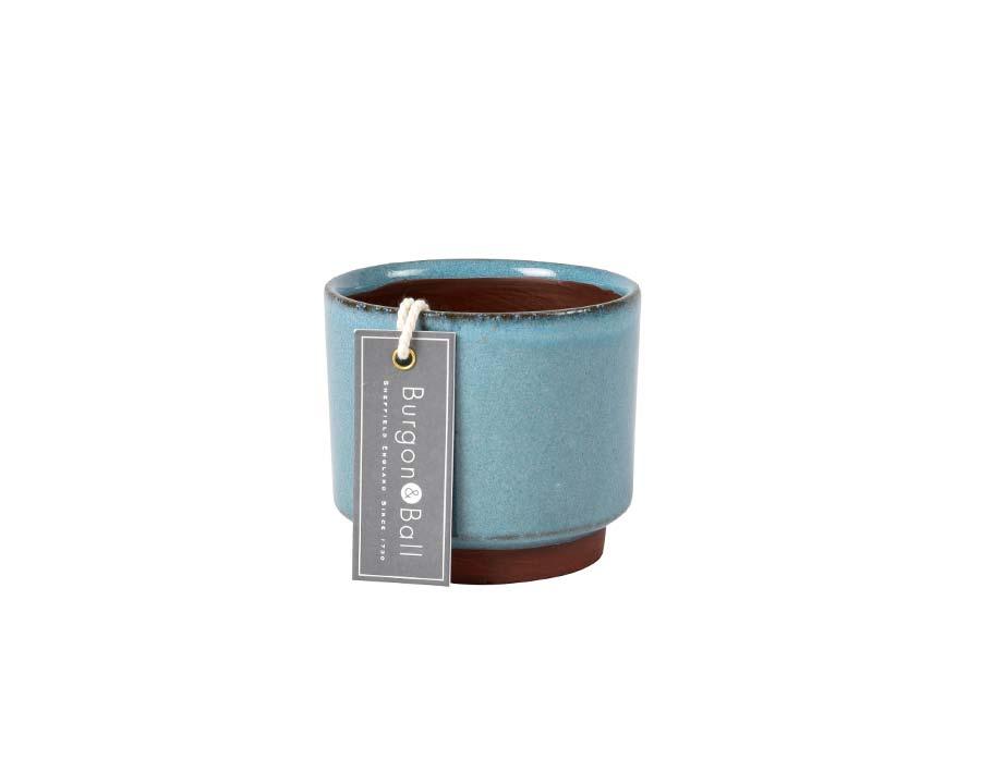 Malibu Succulent Pots  Blue by Burgon and Ball