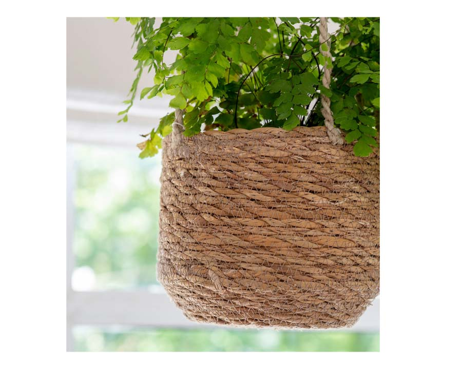 Hanging Pot short design made from Seagrass