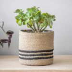 Striped Jute Pot