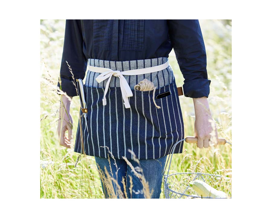 Waist Apron made of strong cotton ticking - Sophie Conran