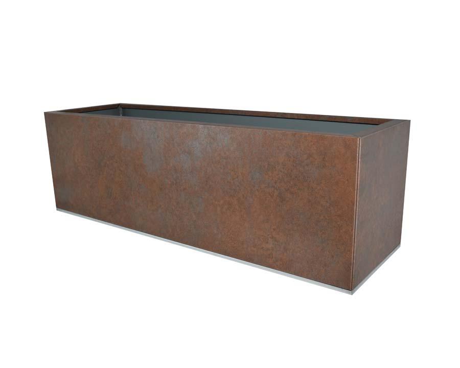 Birdies Planter 100x30x40cms - in Weathered Iron finish