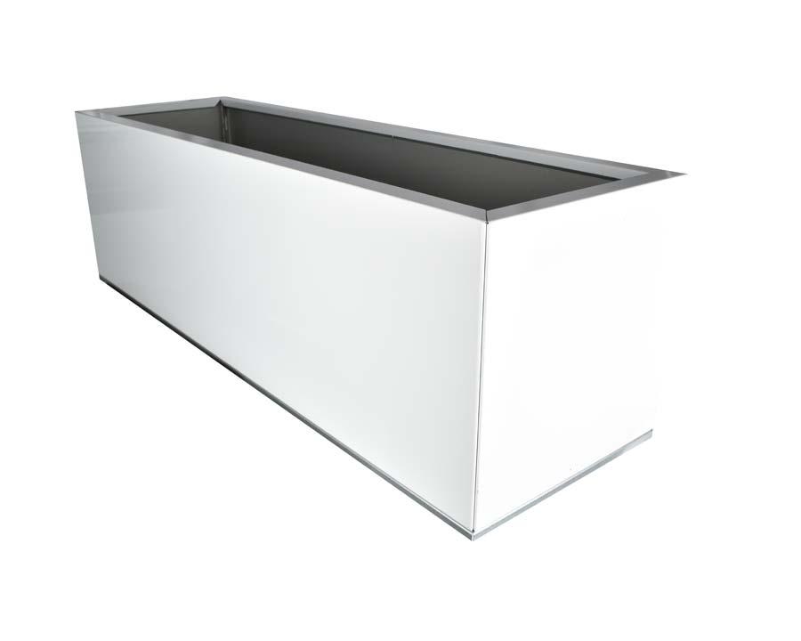 Birdies Planter 100x30x40cms - in White finish