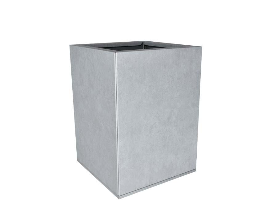 Birdies CBD Square Pot 30 x 30 x 40cms - in Metal Stone finish