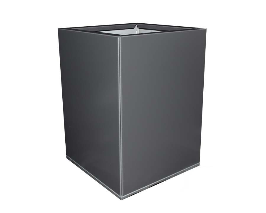 Birdies CBD Square Pot 30 x 30 x 40cms - in Monolith finish