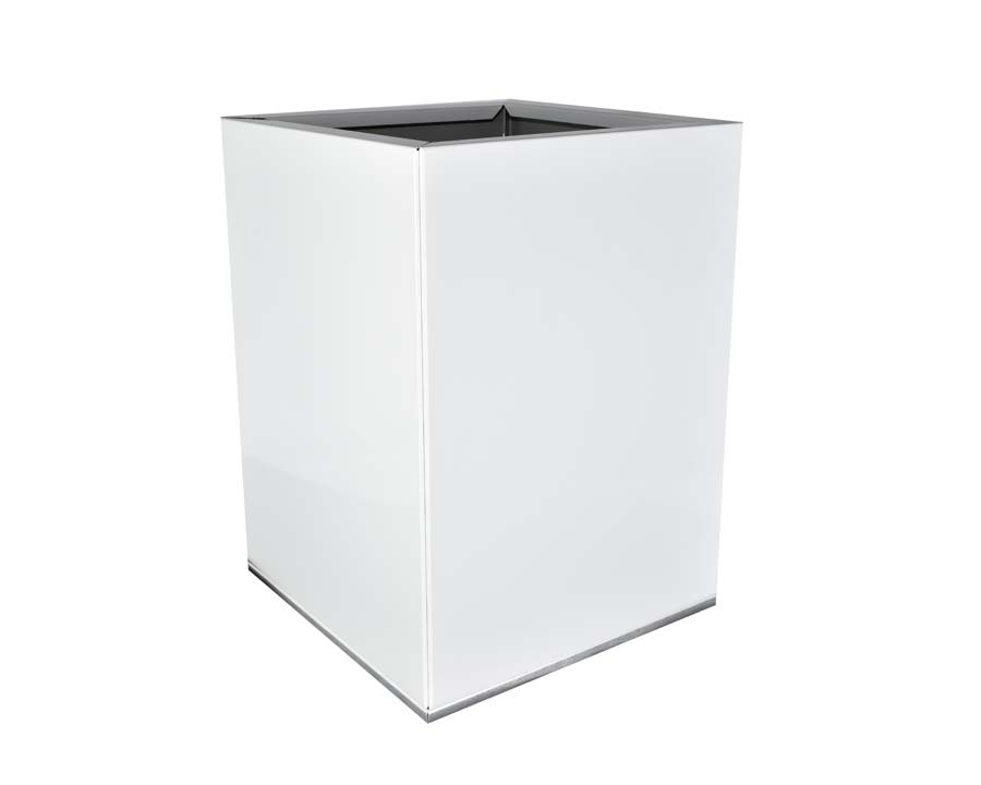 Birdies CBD Square Pot 30 x 30 x 40cms - in White finish