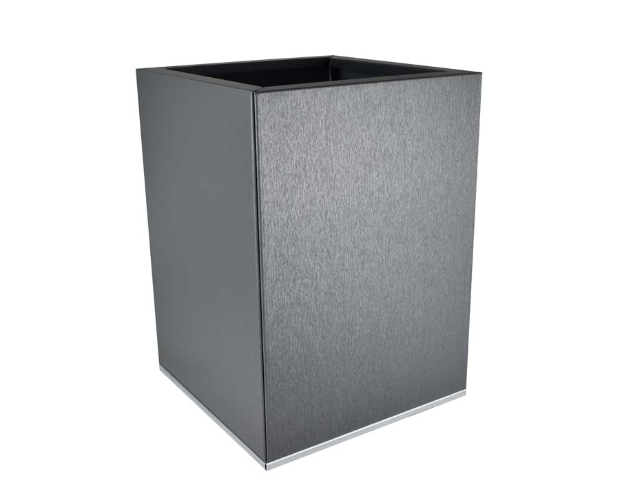Birdies CBD Square Pot 30 x 30 x 40cms - in Zinc Graphite finish