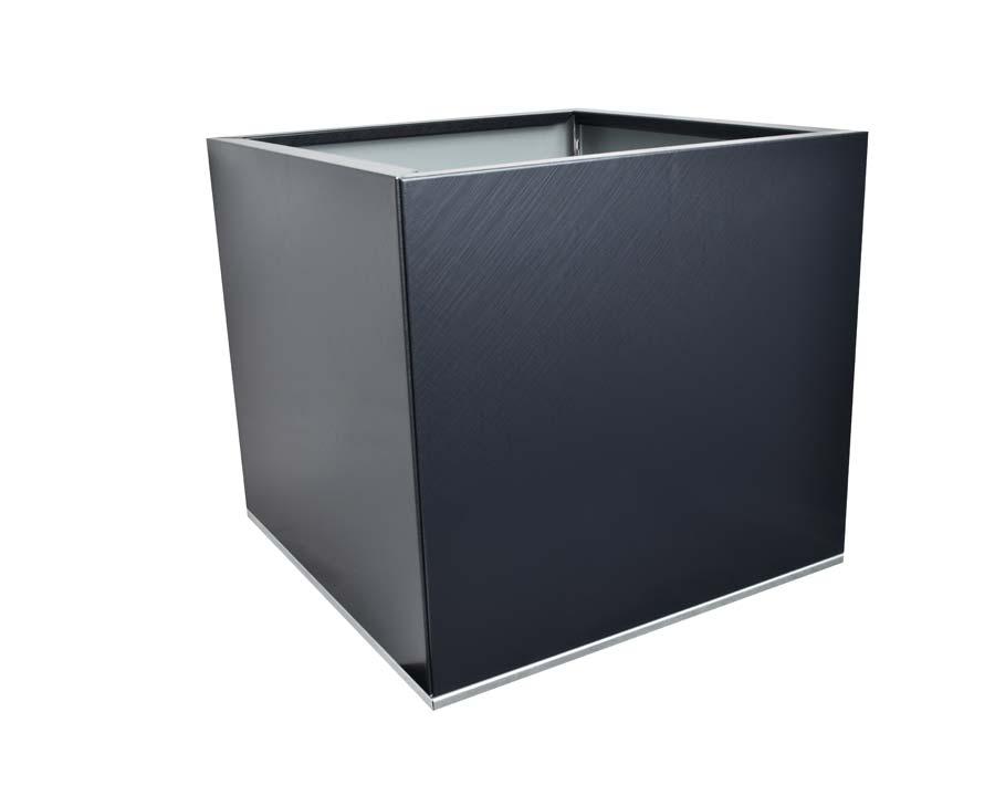 Birdies CBD Flat-Pack Pot - Square 0.45 x 0.45 x 0.4m - in Saffiano finish