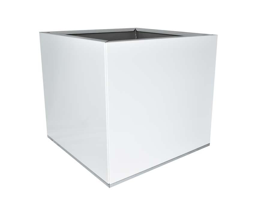 Birdies CBD Flat-Pack Pot - Square 0.45 x 0.45 x 0.4m - in White finish