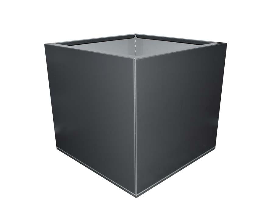 Birdies Flat-Pack Pot - Square 0.45 x 0.45 x 0.4m - in Monolith finish