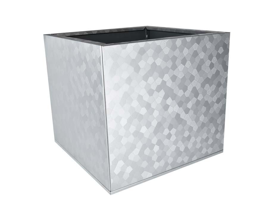 Birdies Flat-Pack Pot - Square 0.45 x 0.45 x 0.4m - in Pentagon finish