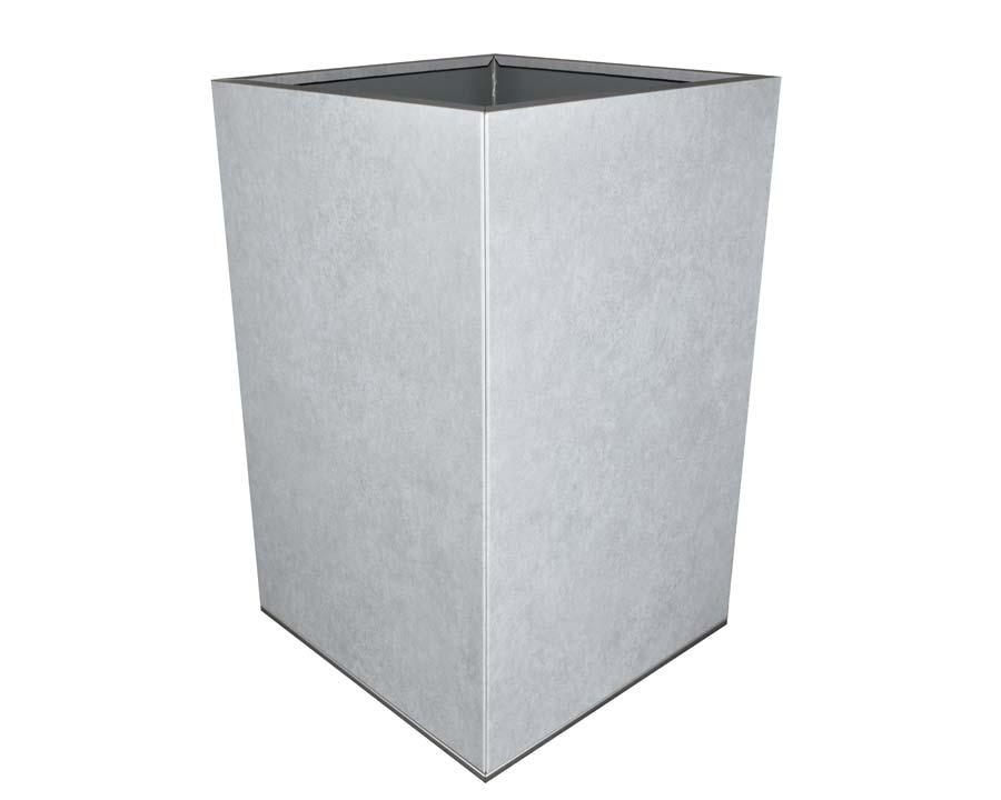 CBD Flat-Pack Pot, Square, Tall  - Metal Stone 45 x 45 x 70cms