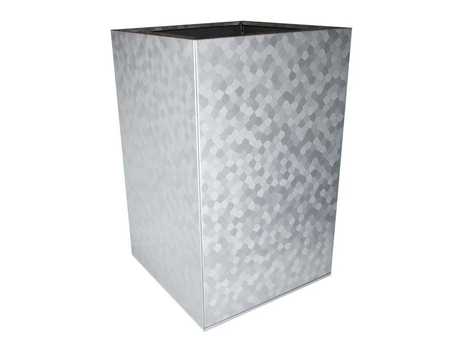 CBD Flat-Pack Pot, Square, Tall  - Pentagon 45 x 45 x 70cms