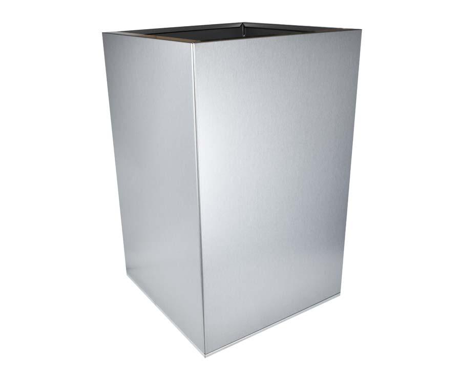 CBD Flat-Pack Pot, Square, Tall  - Silver Quartz 45 x 45 x 70cms