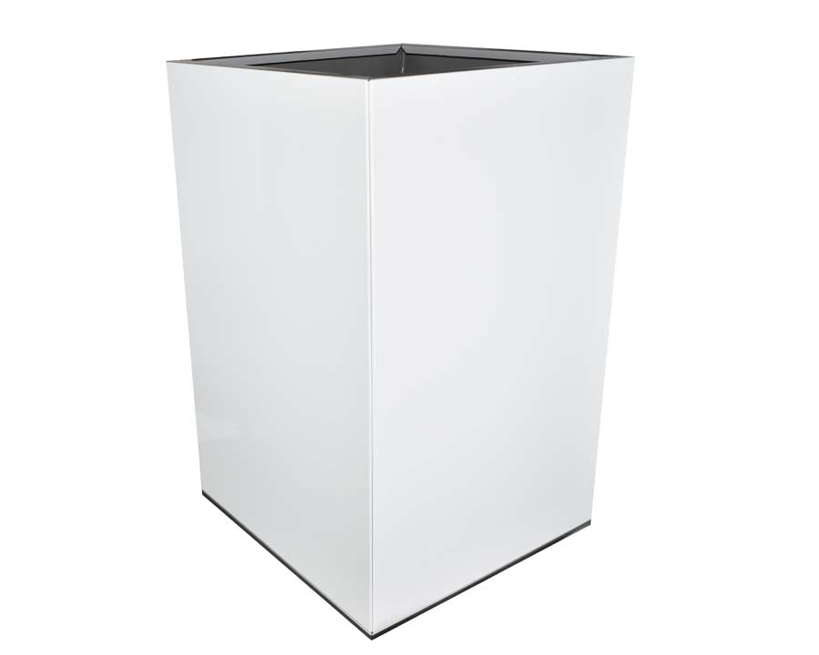 CBD Flat-Pack Pot, Square, Tall  - White 45 x 45 x 70cms