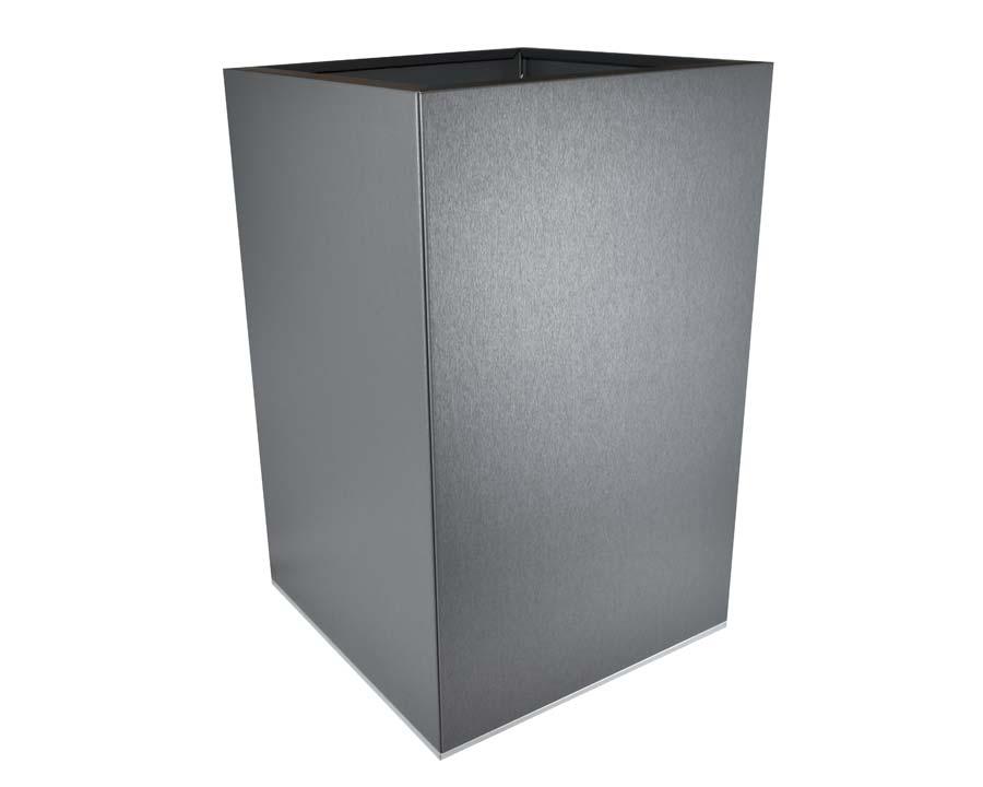 CBD Flat-Pack Pot, Square, Tall  - Zinc Grpahite 45 x 45 x 70cms