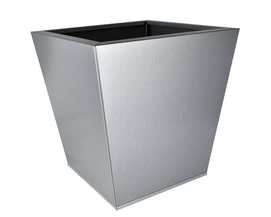 Birdies CBD Flat-Pack pot Tapered 40 x 40 x 40cms - Silver-Quartz finish