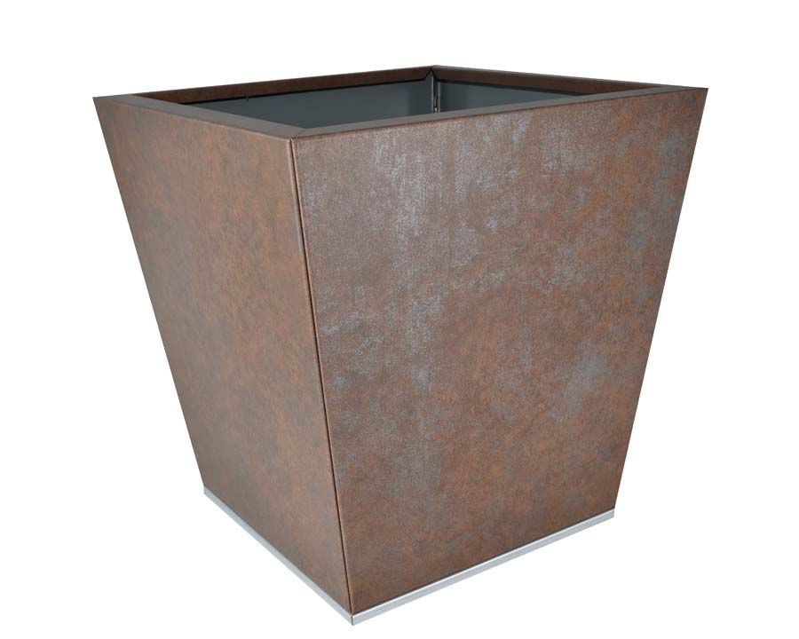 Birdies CBD Flat-Pack pot Tapered 40 x 40 x 40cms - Weathered Iron finish