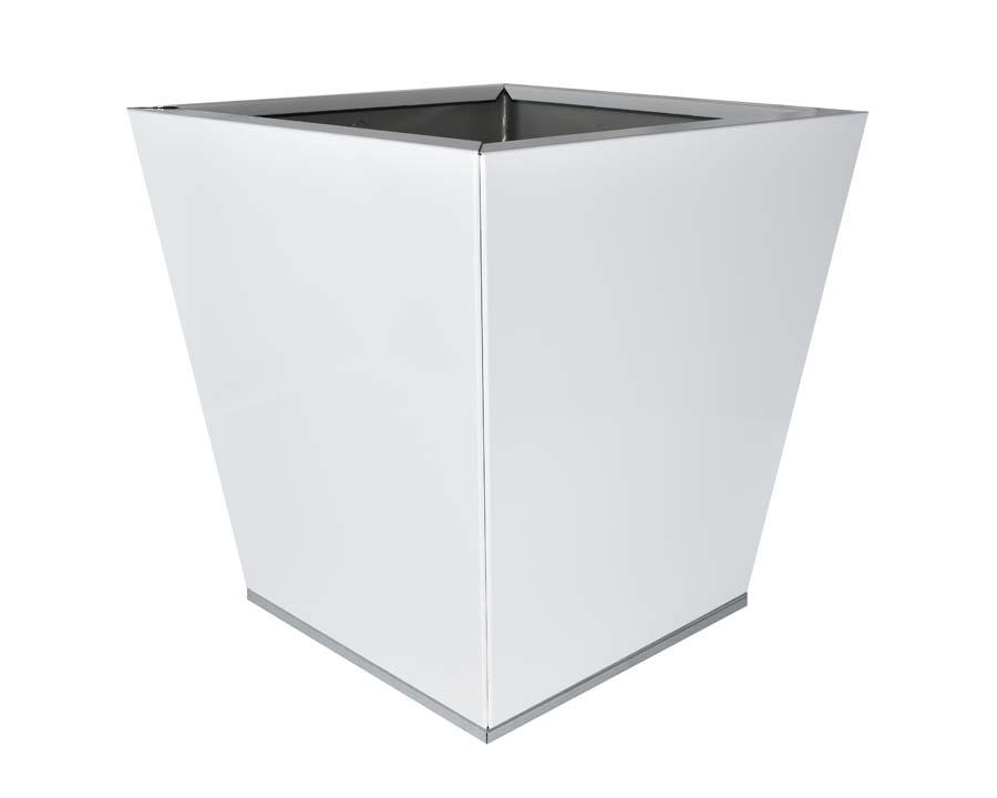 Birdies CBD Flat-Pack pot Tapered 40 x 40 x 40cms - White finish