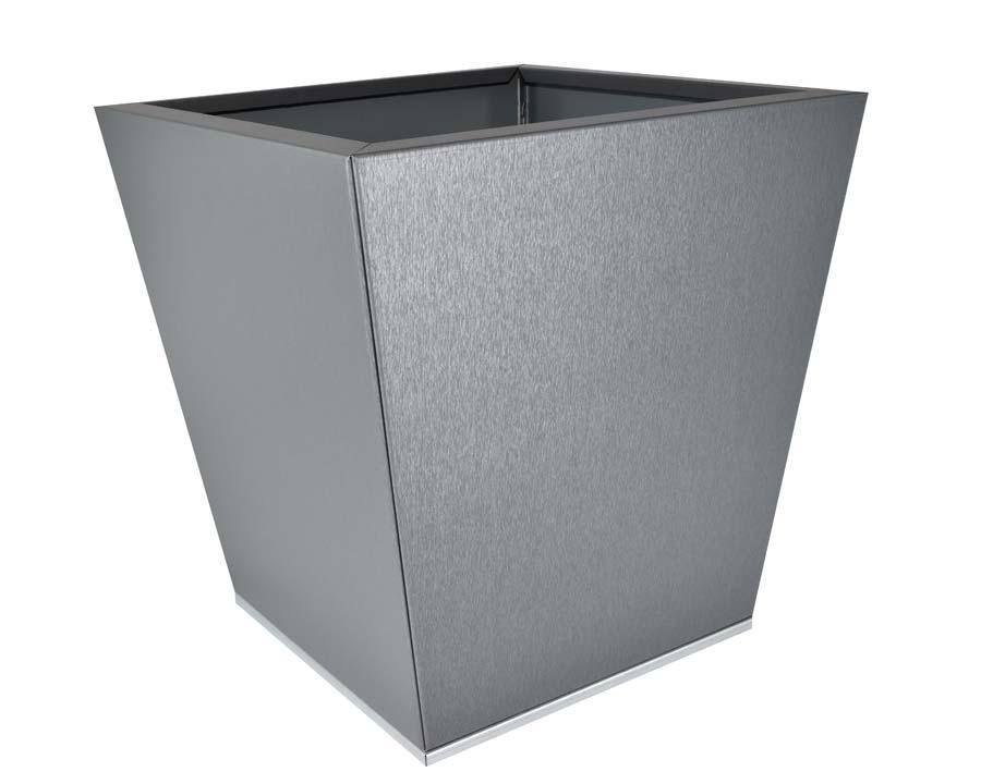 Birdies CBD Flat-Pack pot Tapered 40 x 40 x 40cms - Zinc Graphite finish