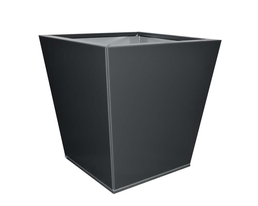 Birdies Flat-Pack pot Tapered 40 x 40 x 40cms - Monolith finish