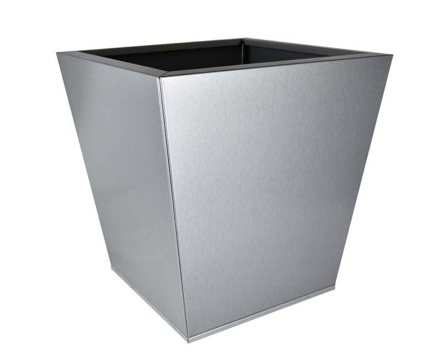 Birdies Flat-Pack pot Tapered 40 x 40 x 40cms - Silver-Quartz finish